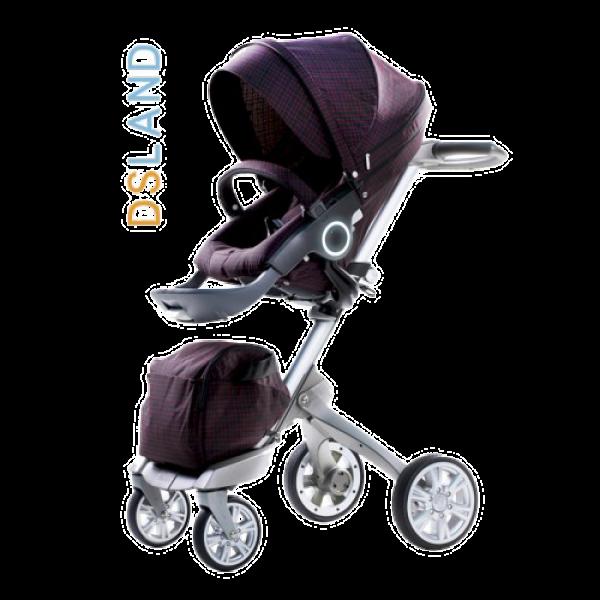 Дитяча коляска 2 в 1 DSLAND Xplory V6 Dark Red (Дісланд Експлорі)