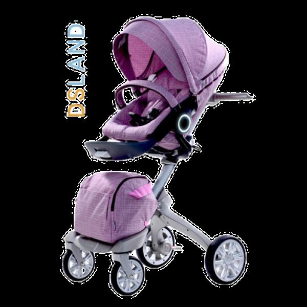 Дитяча коляска 2 в 1 DSLAND Xplory V6 White Purple (Дісланд Експлорі)