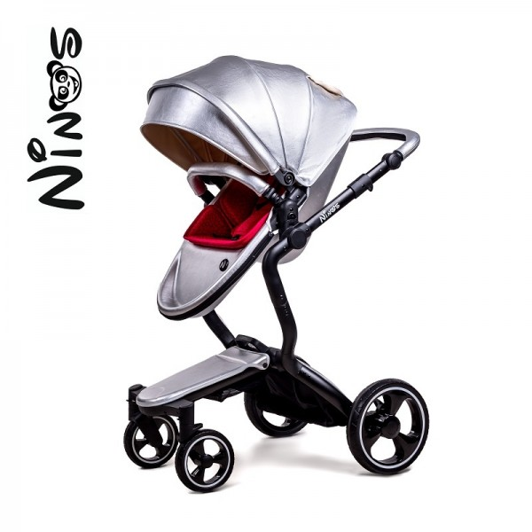 Дитяча коляска 2 в 1 NINO'S A88 Silver Pearl (Нінос)