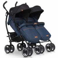 Прогулянкова коляска-тростина для двійні EasyGo Comfort Duo 2019 Denim (ІзіГоу Комфорт Дуо)
