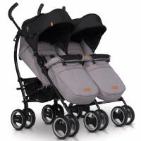 Прогулянкова коляска-тростина для двійні EasyGo Comfort Duo 2019 Grey Fox (ІзіГоу Комфорт Дуо)
