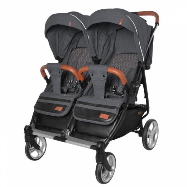 Прогулянкова коляска для двійні Carrello Connect Serious Black (Каррелло Коннект)