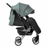 Прогулянкова коляска CARRELLO Gloria CRL-8506/1 Slate Blue в льоні, гумове колесо + дощовик (Каррелло Глорія)