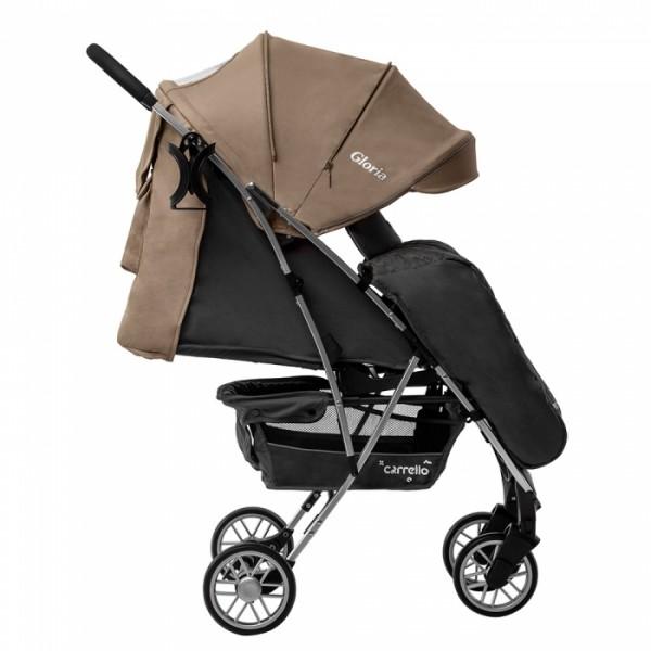 Прогулянкова коляска CARRELLO Gloria CRL-8506/1 Frost Beige в льоні, гумове колесо + дощовик (Карелло Глорія)