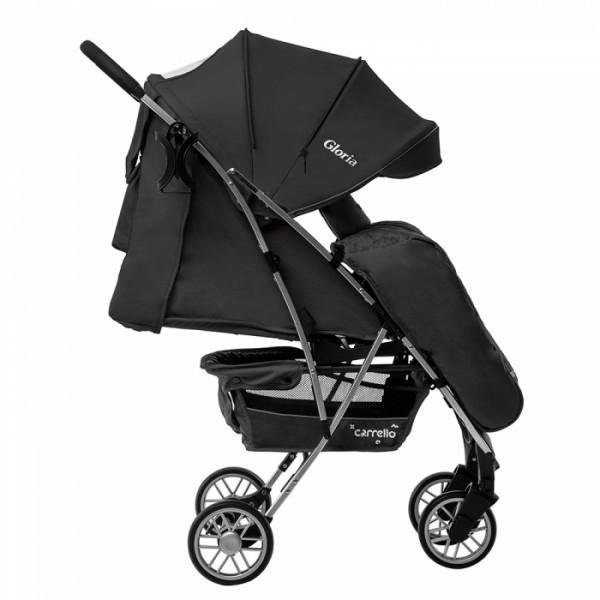 Прогулянкова коляска CARRELLO Gloria CRL-8506/1 Iron Gray в льоні, гумове колесо + дощовик (Каррелло Глорія)