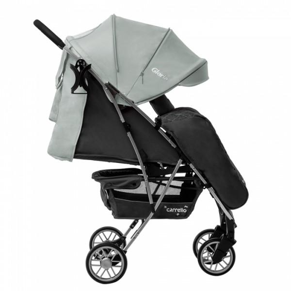 Прогулянкова коляска CARRELLO Gloria CRL-8506/1 Olive Green в льоні, гумове колесо + дощовик (Каррелло Глорія)