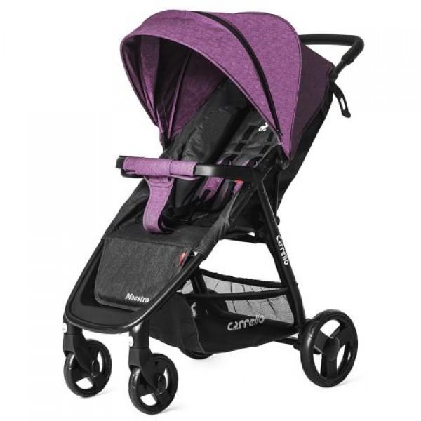 Прогулянкова коляска CARRELLO Maestro Purple Iris в льоні + дощовик (Каррелло Маестро)