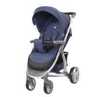 Прогулянкова коляска CARRELLO Vista CRL-8505 Denim Blue в льоні + дощовик (Каррелло Віста)