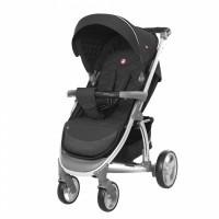 Прогулянкова коляска CARRELLO Vista CRL-8505 Steel Gray в льоні + дощовик (Каррелло Віста)