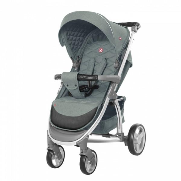 Прогулянкова коляска CARRELLO Vista CRL-8505 Olive Green в льоні + дощовик (Каррелло Віста)
