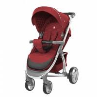 Прогулянкова коляска CARRELLO Vista CRL-8505 Ruby Red в льоні + дощовик (Каррелло Віста)