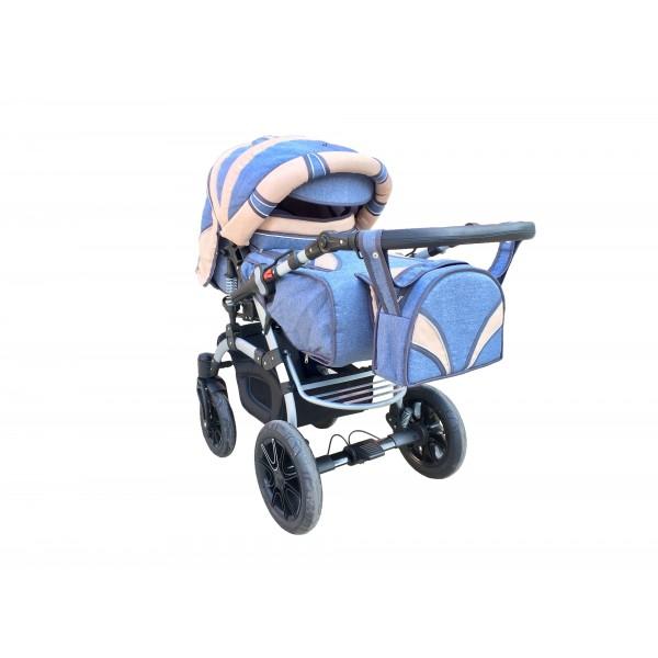 Коляска-трансформер Trans Baby Prado Lux Len Lux 33/Lux 24 (Транс Бейбі Прадо Люкс Льон)